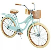 "🚲Huffy 54578 Nel Lusso 24"" Cruiser Bike - Mint Green BEST GIFT BIKE - SHIP FAST"
