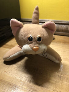 RARE VINTAGE POUND PURRIES CAT TAN STUFFED ANIMAL PLUSH TOY! TONKA KITTY PUPPIES