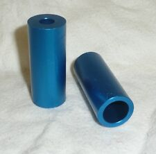 1pr BLAZER PRO ALLOY SCOOTER PEGS PIPE TUBE STYLE BLUE