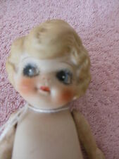 """Antique 6 """"  Made in Japan all bisque girl and 6 1/2"""" unusual boy"""