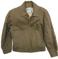 Vintage 50s Sedgefield By Blue Bell Buffalo Jacket Beige Mens Size 38