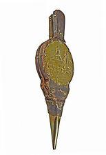 Vintage Leather Clad / Repoussé Brass Fireplace Bellows, Dutch.
