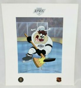 Toon Art Los Angeles LA Kings Warner Bros Taz NHL Hockey Slapshot Litho PP