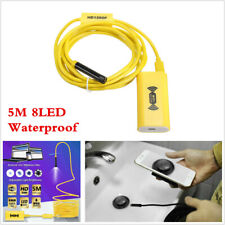8LED WiFi Endoscope Borescope Inspection Camera HD 1200P IP68 For iPhone Android