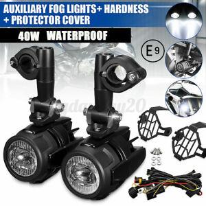 2x LED Zusatzscheinwerfer Nebelleuchte E9-Geprüft + Kabelbaum Für BMW R1200GS