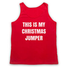 THIS IS MY CHRISTMAS JUMPER FUNNY ANTI XMAS SLOGAN 2XL RED TANK TOP VEST
