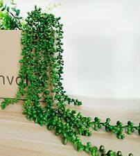 Artificial Succulent Plant String Of Pearl 28'' Hanging Basketplant Green 1 Pc