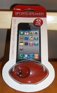 NEW Vibe Football Sports SPEAKER Apple iPhone 4/4S Portable SUPERBOWL