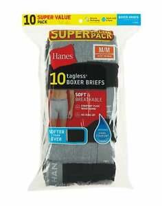 Hanes Men's Tagless Boxer Briefs 10-Pack