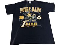 Vintage 90s Notre Dame Fighting Irish Graphic T Shirt 90s Size Large Made In Usa