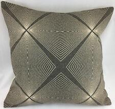 Geometric Line Design on Hessian Type Fabric Evans Lichfield Cushion Cover