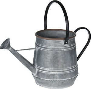 Large Decorative Vintage Zinc Metal Watering Can Retro Watering Can