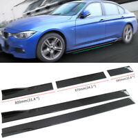 Universal 2.2M 86.6'' Carbon Fiber Style ABS Side Skirts Extension Body Kit 6Pcs