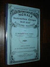 MORALE - INSTRUCTION CIVIQUE - DROIT USUEL - ECONOMIE POLITIQUE - 1931