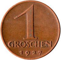 1927 / 1 GROSCHEN / AUSTRIA / OSTERREICH   #WT1996
