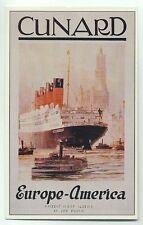 L7286 - Cunard Liner - Aquitania , built 1914 - poster advert postcard