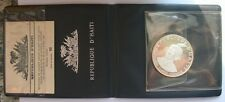 Haiti 1971 Cherokee Chief 10 Gourde 1.511oz Silver Coin,Proof,With Pack COA