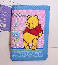 Disney WINNIE the POOH Pink & Blue TRI-FOLD WALLET Purse Card Holder Case NEW!!