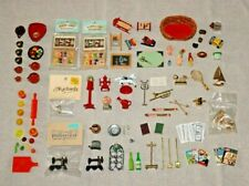 Dollhouse Miniatures Lot Wood Metal Plastic Intercast Chrysnbon Mexican Pottery+