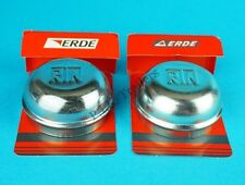 2 x 52mm Genuine Erde Metal Grease Hub Dust Wheel Cap Trailer Brakes