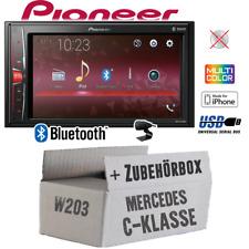 Autoradio Pioneer 2-DIN Bluetooth   MP3   USB   Einbauset für Mercedes C W203