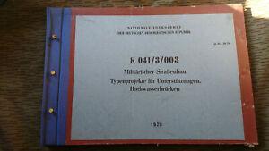 NVA  DV K 041/3/003 MILITÄRISCHER STRAßENBAU UNTERSTÜTZUNGEN HOCHWASSERBRÜCKEN