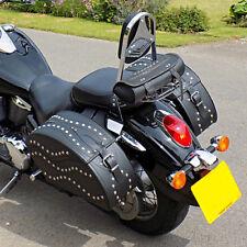 MOTORCYCLE LEATHER SADDLEBAGS PANNIERS SUZUKI VL800 VOLUSIA M800 1500 INTRUDER