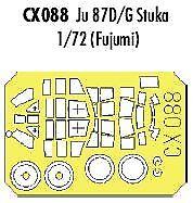 Eduard 1/72 Junkers Ju 87D/G Stuka paint mask for Fujimi # CX088