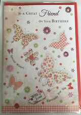 To A Great Friend On Your Birthday  - Special Wishes - Butterflies Birthday Card