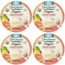 4 TIN Torie and Howard Organic Hard Candy Pink Grapefruit Tupelo Honey 2oz