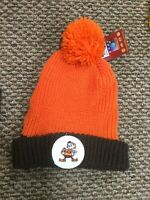 NWT Cleveland Browns Mitchell & Ness Winter Pom Knit Hat Cap New With Tags