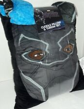 "Marvel ""Black Panther"" Cuddle Pillow & Throw Set  Measures 40"" X 50"""