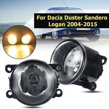 Pair Front Bumper Fog Light Lamps For Renault / For Dacia Duster Sandero