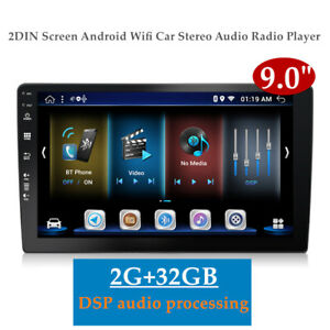 "9.0"" 2DIN LVDS Screen Android 9.01 Wifi Car Stereo GPS FM Radio Player 2+32GB"