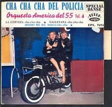 45T Pochette MOTO BIKE BMW Gendarmerie ORQUESTRA / Photo Les soeurs KESSLER