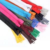 10pcs x 60cm Heavy Duty Open Ended Zip Sewing Zipper Plastic Thin Teeth Zippers