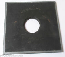 "7"" Square Wood Lens Board 50mm Unthreaded Opening - Large Format - USED F01A"