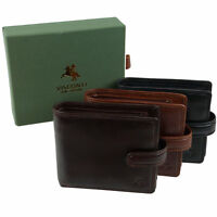 Mens Italian Leather Stylish RFID Protected Tabbed Wallet by Visconti Tuscany