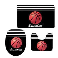 Ball Sports Toilet Seat Lid Cover Soft Anti-slip Solid Bathroom Set Mat Pedestal