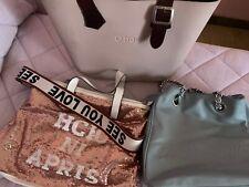 3 Borse O Bag Camomilla Rosa Paiettes Originali Usate