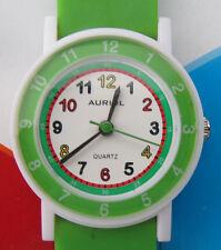 Kinder-Quarz-Uhr  * Kinderuhr * Grün/Zahlen * Rund * Auriol * Neu*OVP*