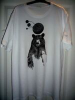 (Vintage) --- Designer Paul Smith Men's White Bear T Shirt Size M - Extra Large.