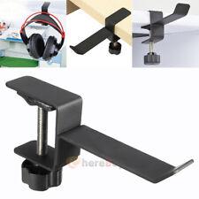 Headset Earphone Headphone Hanger Stand Holder Table Clamp Clip + Screws Steel