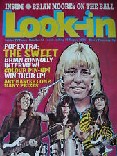 LOOK-IN MAGAZINE 17TH AUG 1974 - THE SWEET