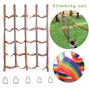 Wall Rainbow Physical Climbing Net Kid Outdoor Daily Sports Training Fitness Toy