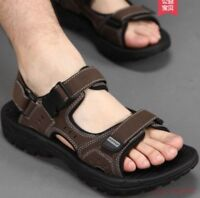 2019 Hot Men's Leather Sandals  Summer Open Toe Sandles Sport Sandal Shoes Size
