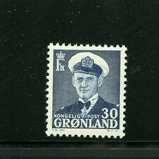 Greenland #33 (Gr149) Frederik Ix Dark Blue, M, Nh, Fvf