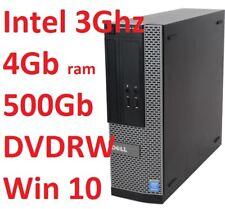 Computer Pc DELL OPTIPLEX 3020 INTEL 3Ghz/500Gb/4Gb DVDRW Windows 10 Pro