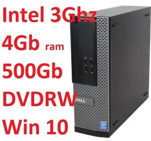 Computer Pc DELL OPTIPLEX 3020 INTEL 3Ghz/500Gb/4Gb DVDRW Windows 10 Pro