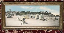 Antique Panorama Photograph Print Beach Dinard, France 1800's La Malouine Castle